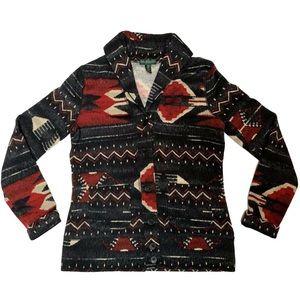 LRL Ralph Lauren Jeans Co Aztec Cardigan Sweater M
